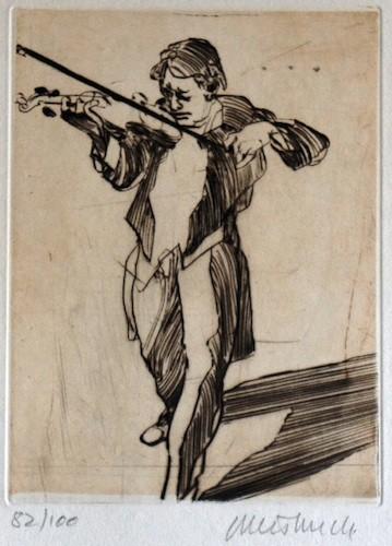 Le violoniste, Claude Weisbuch