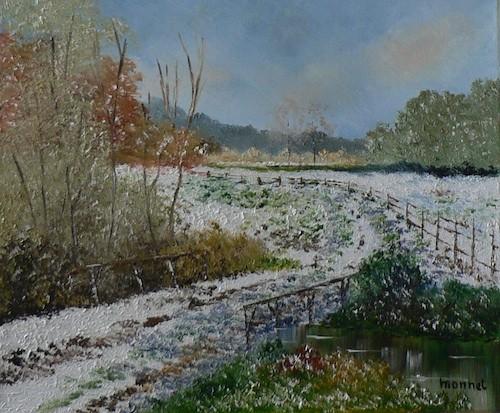 Chemin sous la neige, Monnet