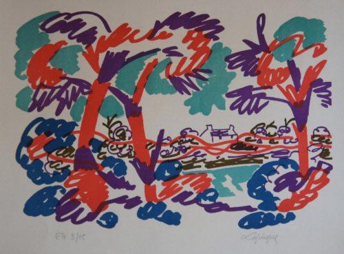 Lithographie (sans titre), Charles Lapicque