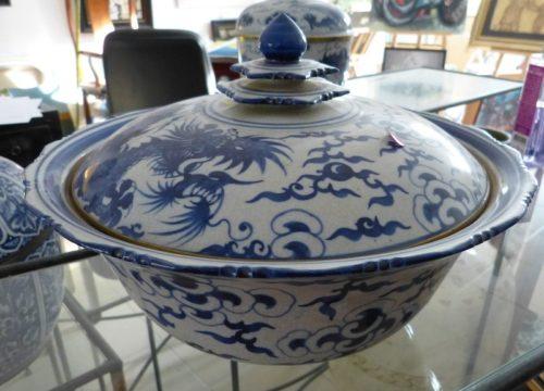 Porcelaine bleu / blanc